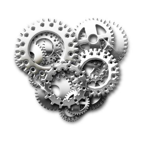 chrome: heart of chrome gears Stock Photo