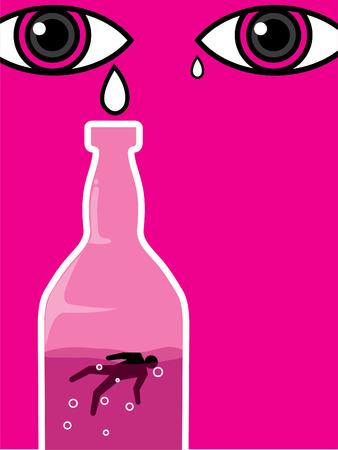 tear drops for alcohol drinker die in the bottle