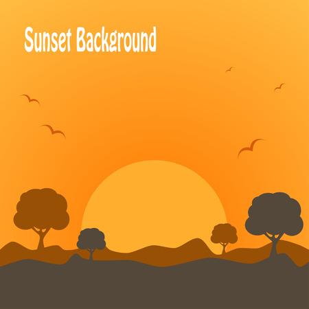 desert sunset: Desert sunset background