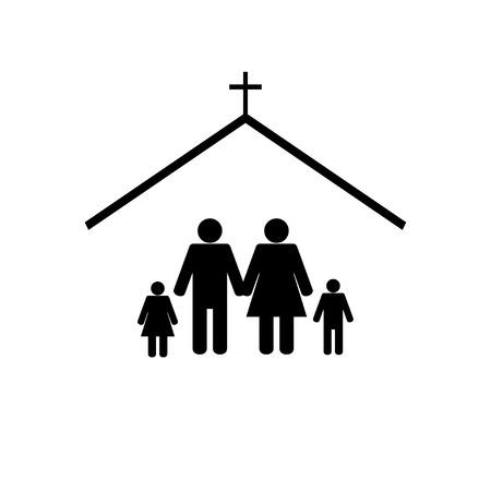 familia en la iglesia: Icono de la iglesia