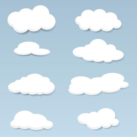 clouds: clouds set Illustration