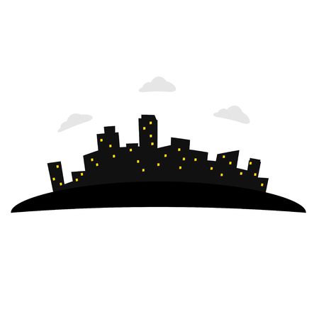 house exchange: Illustration of city Illustration