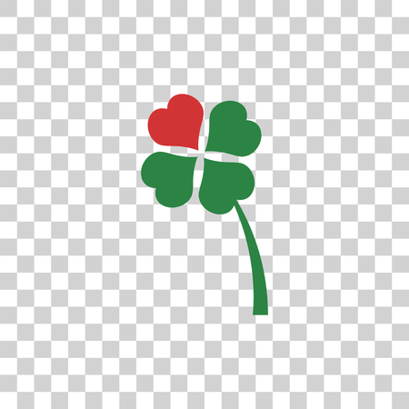 four leaved: clover icon Illustration