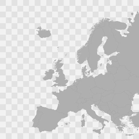 Europe vector political map
