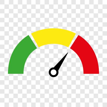 Snelheidsmeter of cijfer meter tekens infographic gauge element. vector illustratie Vector Illustratie
