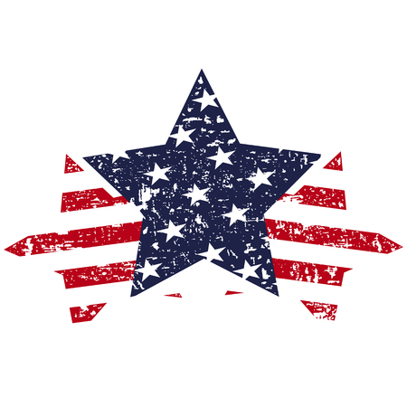 American united states stars background Illustration