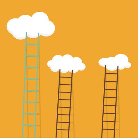 ladders: ladders in sky