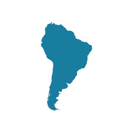 Mapa de América del Sur Vectores