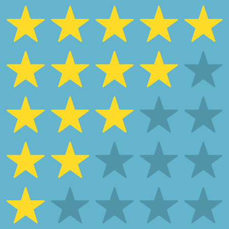 rating stars Illustration