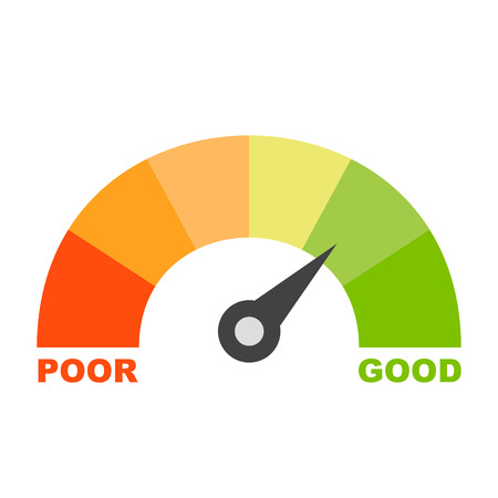 Colorful credit score Stock Illustratie