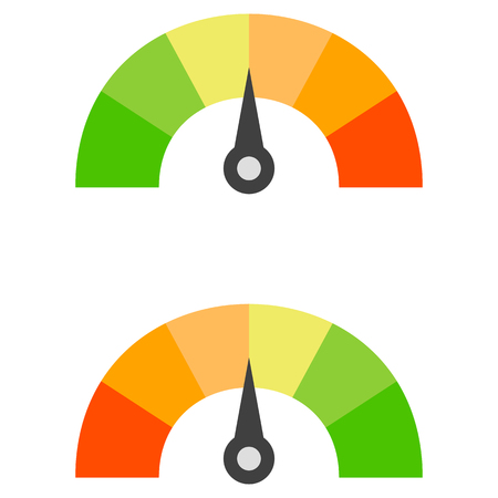 rating: Isolated illustration of credit score on neutral presentation.