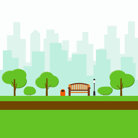 Cool illustration of a park. Illustration