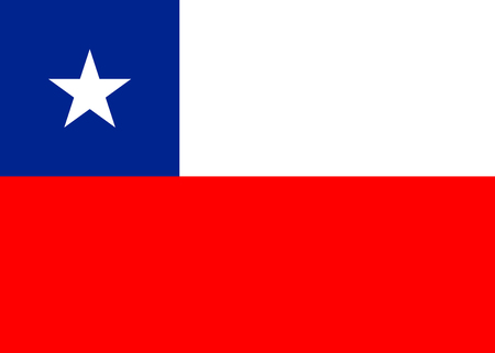 chilean: Chile national flag. vector illustration. business education Illustration