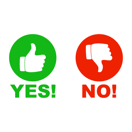 Yes and no hand sign Vectores