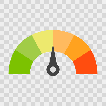 Credit score concept vector illustration
