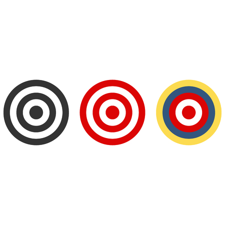 Set of target with colors, vector illustration