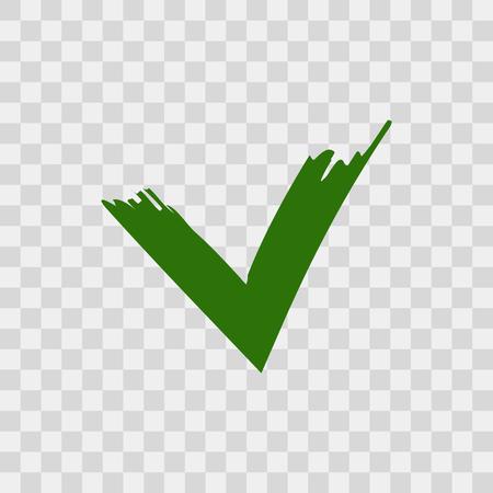 チェック マークのブラシ  イラスト・ベクター素材