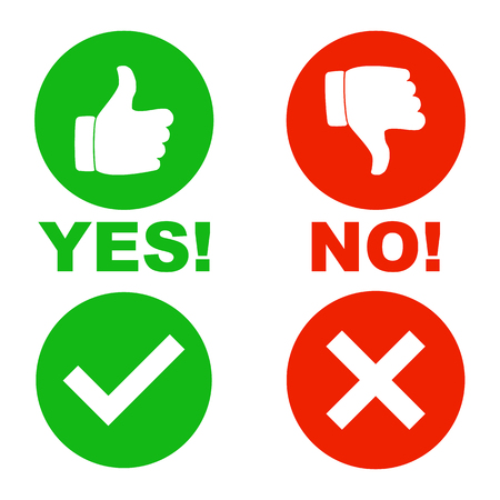 Yes no signs