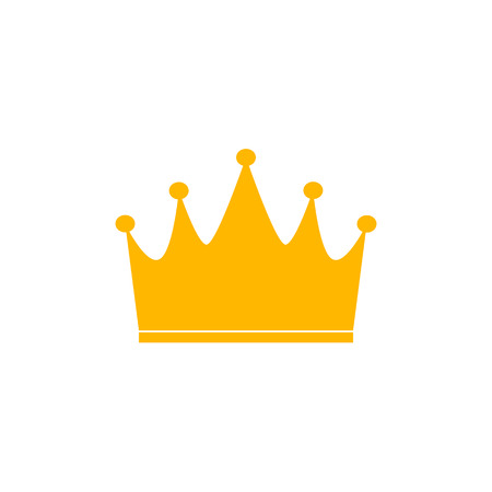 A yellow crown icon on white background. Иллюстрация