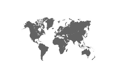 World map. Vector illustration. Ilustração