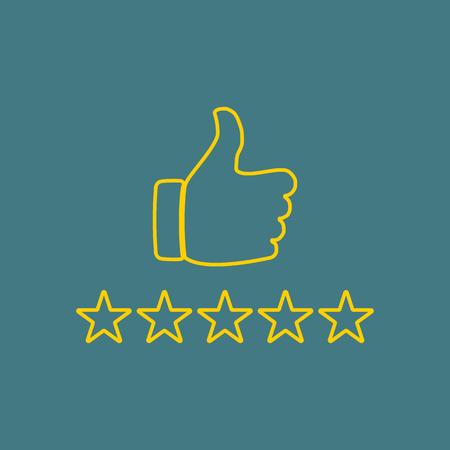 reviews: rating stars Illustration