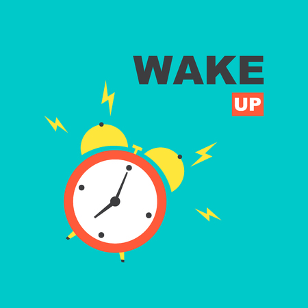 Wake up! Alarm clock vector