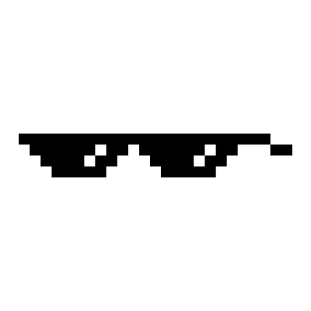 Pixel glasses isolated Illustration