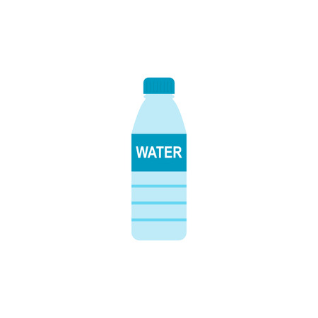 Bottled water isolated