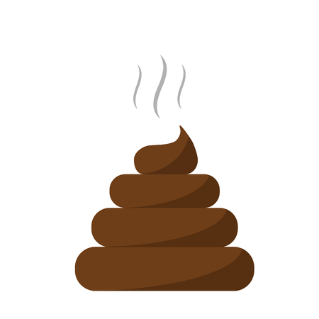 Poo icon isolated on white background. Flat style