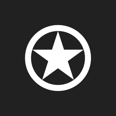U.S. Army sign logo snar in circle Illustration