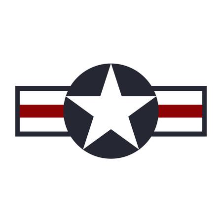 ●アメリカ陸軍航空隊のロゴマーク。ベクターイラスト