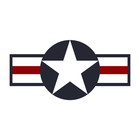 U.S. Army air force sign logo. Vector illustration Çizim