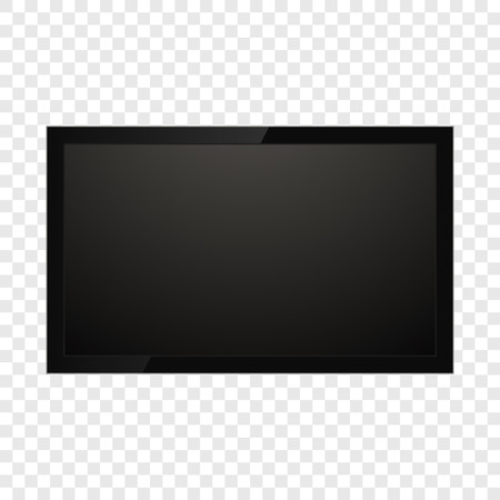 Realistic tv screen isolated on background. Vector