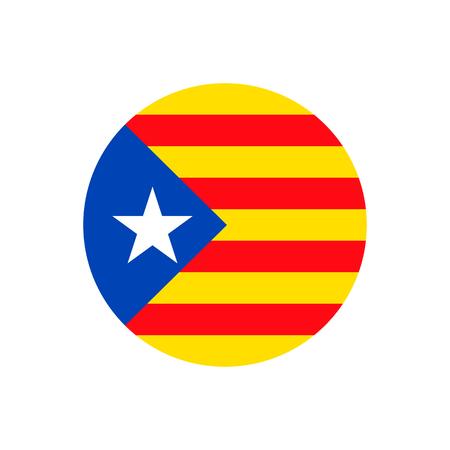 Catalonia flag sign icon background. Vector illustration. Illustration