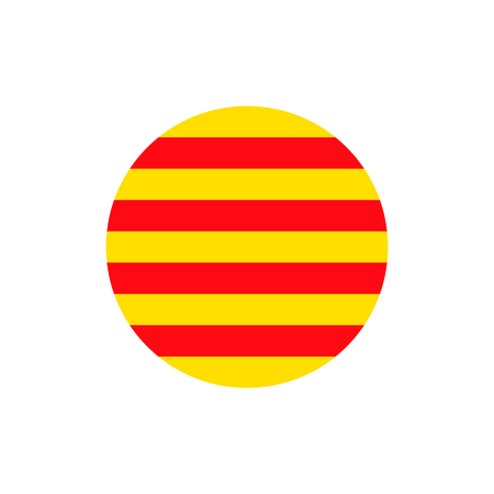 Catalonia flag sign icon background. Vector illustration 矢量图像
