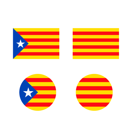 Catalonia flag sign icon background. Vector illustration. 向量圖像