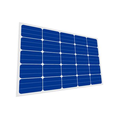 Solar panel sign isolated on white background Illustration