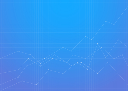 Graph financial chart background with blue gradient 矢量图像
