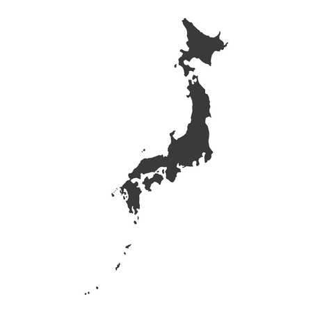 Vector Japan map isolated on white back  イラスト・ベクター素材