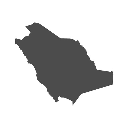 Saudi Arabia vector map on white back Vectores