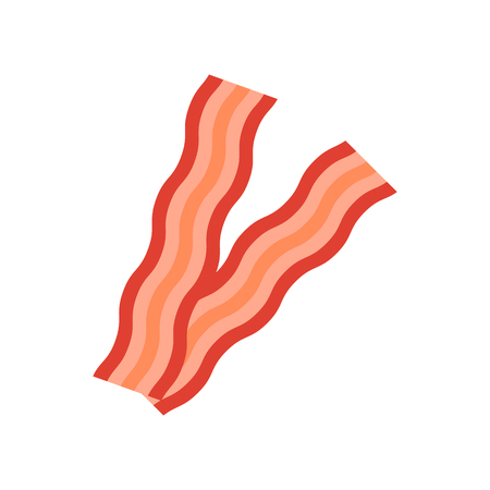 Bacon icon. Flat style. Vector icon illustration