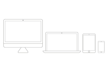 Electronic devices set line style. Eps10 vector Illustration