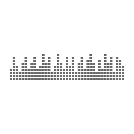 Sound waveforms icon pixel. Eps10 vector illustration  イラスト・ベクター素材