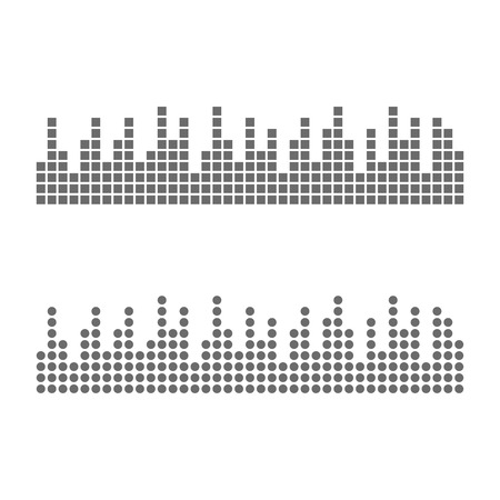 Sound waveforms icon pixel. Eps10 vector illustration  イラスト・ベクター素材