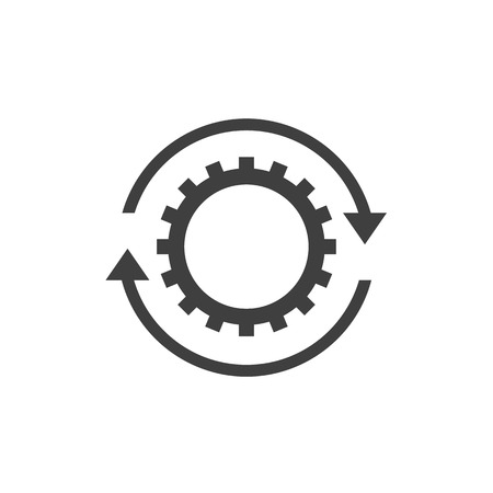 Workflow icon sign isolated on white back Stockfoto - 109717976