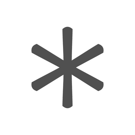 Asterisk footnote icon sign.
