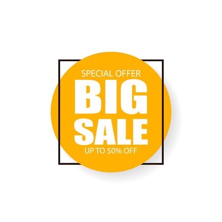 Big sale inscription sign. Vector eps10 illustration Zdjęcie Seryjne - 127309637