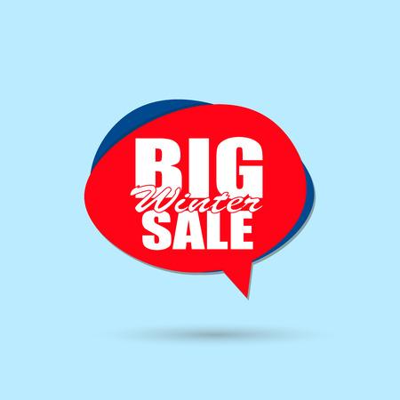 Big sale inscription sign. Vector eps10 illustration Zdjęcie Seryjne - 127309638