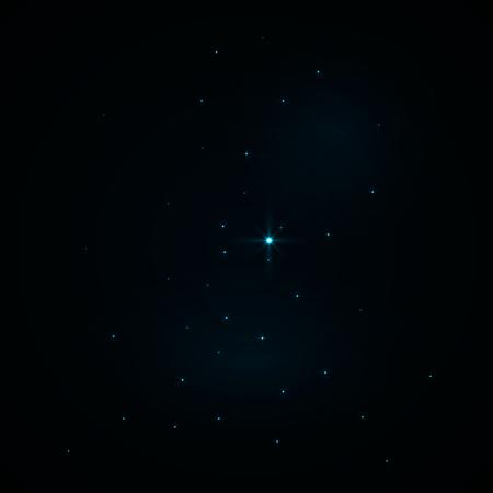 Night christmas sky with stars. Vector eps10