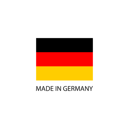 Made in Germany sign with national flag Illustration